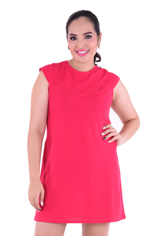 PROUD basic stretch dress pink