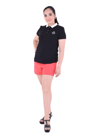 PROUD basic colorful polo black