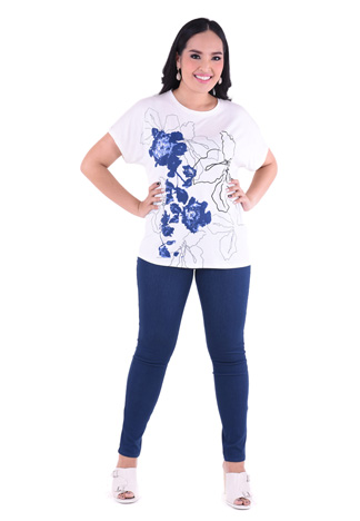 PROUD blue garden t-shirt