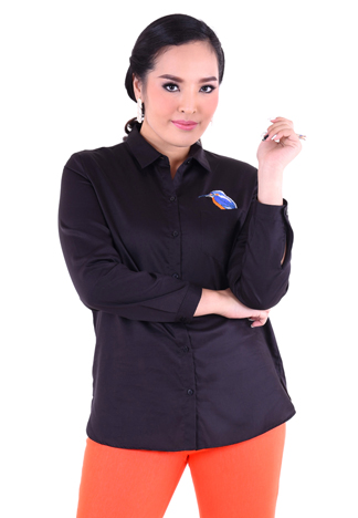 PROUD bird embroidery shirt black