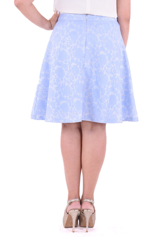 PROUD floral pattern skirt light blue