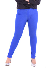 PROUD stretch pants blue