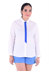 PROUD striped tie shirt white/blue