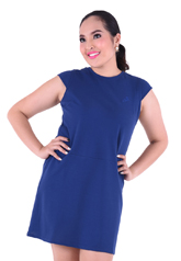 PROUD basic stretch dress blue