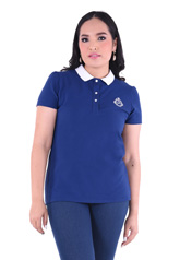 PROUD basic colorful polo navy