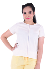 PROUD chiffon line blouse cream