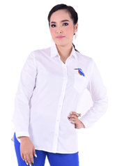 PROUD bird embroidery shirt white