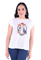 PROUD bird garden print t-shirt